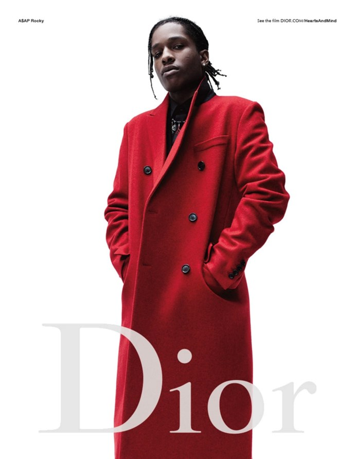 <p>A$AP Rocky is no stranger to fashion, having appeared in several campaigns, including Dior Homme.