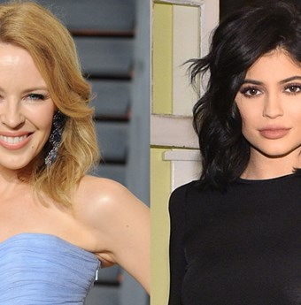Kylie Minogue and Kylie Jenner.