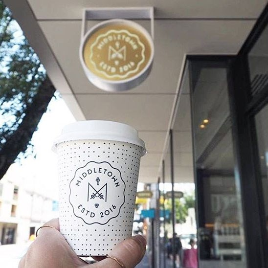 """<p>The branding also resembles a crest. It's not Kate's family crest, but still screams 'royal'. <p>Image: <a href=""""https://www.instagram.com/p/BOVeP5lju3M/"""" target=""""_blank"""">@middletowncafe</a>"""