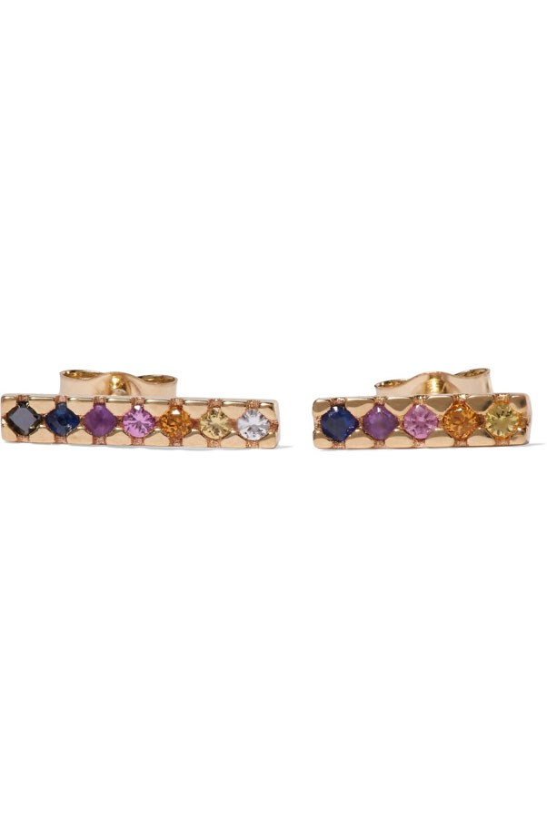 "<p>Sarah & Sebastian earrings, $715 at <a href=""https://www.net-a-porter.com/au/en/product/838388/sarah___sebastian/painted-14-karat-gold-multi-stone-earrings?cm_mmc=LinkshareUK-_-TnL5HPStwNw-_-Custom-_-LinkBuilder&siteID=TnL5HPStwNw-13L7RDR4FJnQjiAXZt3GxQ"">Net-a-Porter</a>"