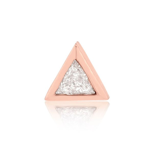 "<p>S&S Diamonds earring, approx. $404 at <a href=""http://www.stoneandstrand.com/trillion-diamond-stud-medium-14k-rose-gold-white-diamond"">Stone & Strand</a>"