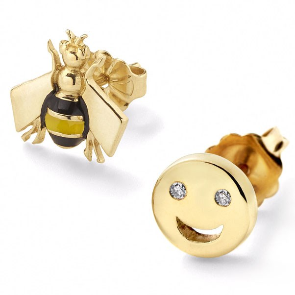 "<p>Alison Lou earrings, approx. $717 at <a href=""http://www.alisonlou.com/collections/earring/products/bee-happy-studs"">Alison Lou</a>"