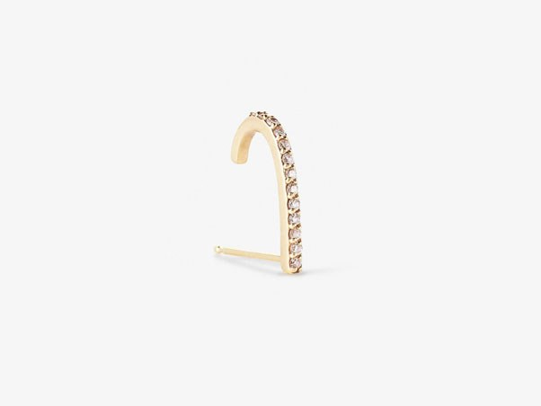 "<p>Paige Novick earring, approx. $665 at <a href=""http://paigenovick.com/collections/tplt/products/hook-single-stud-with-diamond-pave"">Paige Novick</a>"