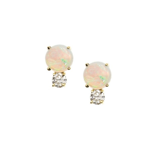 "<p>Jemma Wynne earrings, approx. $1,232 at <a href=""https://editorialist.com/jewelry/earrings/opal-and-diamond-studs"">Editorialist </a>"