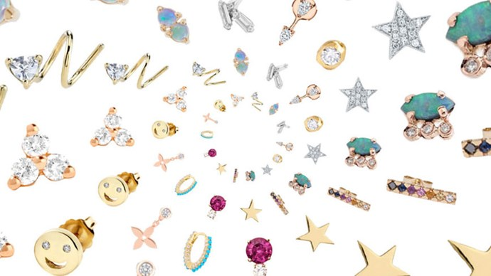 ELLE has created a guide for buying tiny earrings for all your extra piercings—from studs to huggies, upgrade your ear game.