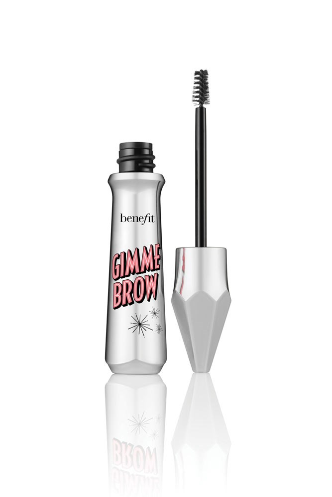 """Having polished brows lets me get away with being a makeup minimalist and a tinted brow gel does it all (shapes, smooths and sets) in 10 seconds flat."" <strong>– Janna Johnson O'Toole, beauty and fitness director</strong><br><br> <em><a href=""https://www.benefitcosmetics.com/au/en-gb/product/gimme-brow-new"">Benefit Gimme Brow Volumizing Eyebrow Gel, $39</a></em>"