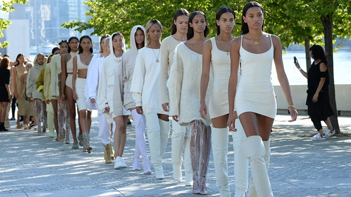 "<strong>Yeezy season 5</strong><br><br> As with almost anything he does, Kanye West's Yeezy Season 5 launch has already <a href=""http://www.harpersbazaar.com.au/news/fashion-buzz/2017/2/cfda-slams-kanye-west/"">courted controversy</a>. Here's hoping it's more successful than <a href=""http://www.harpersbazaar.com.au/news/fashion-buzz/2016/9/kanye-west-yeezy-season-4-disaster/"">last season</a>."