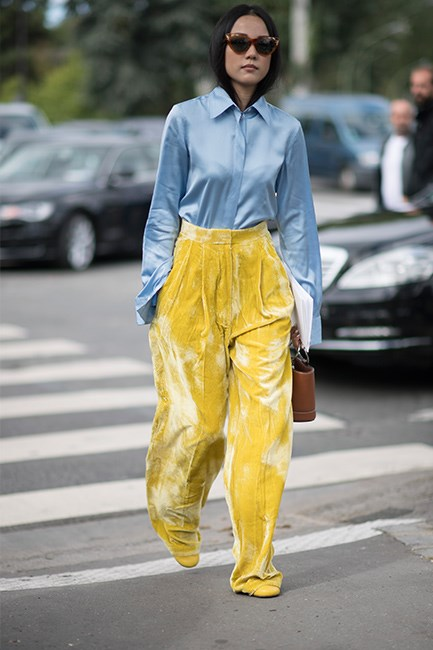 Street Style at Paris Fashion Week Spring/Summer 2017.
