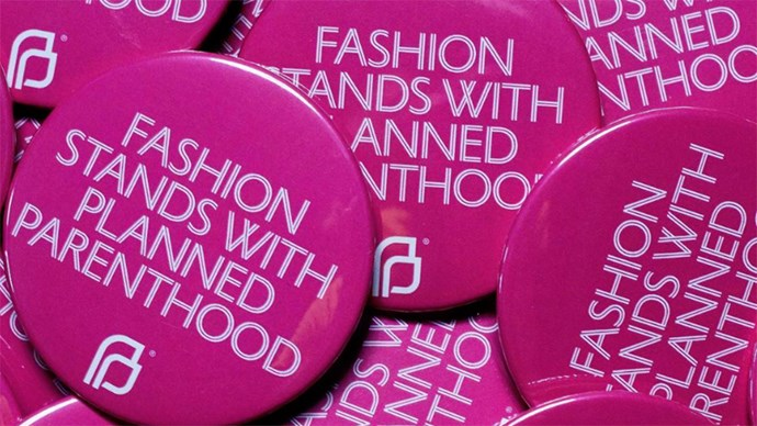 "<p><strong>The 'Fashion Stands With Planned Parenthood' Badge</strong><p><p> To show support for Planned Parenthood, a health service in the U.S. which the government plans to defund, the Council of Fashion Designers of America (CFDA) has launched the '<a href=""https://cfda.com/news/cfda-launches-fashion-stands-with-planned-parenthood"">Fashion Stands with Planned Parenthood campaign</a>' which hopes to raise awareness and donations for the cause through the wearing of these badges. Expect one pinned to every Chanel boy bag you see."