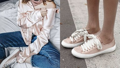 Rosé Satin Sneakers Are About To Be Everywhere Very Soon