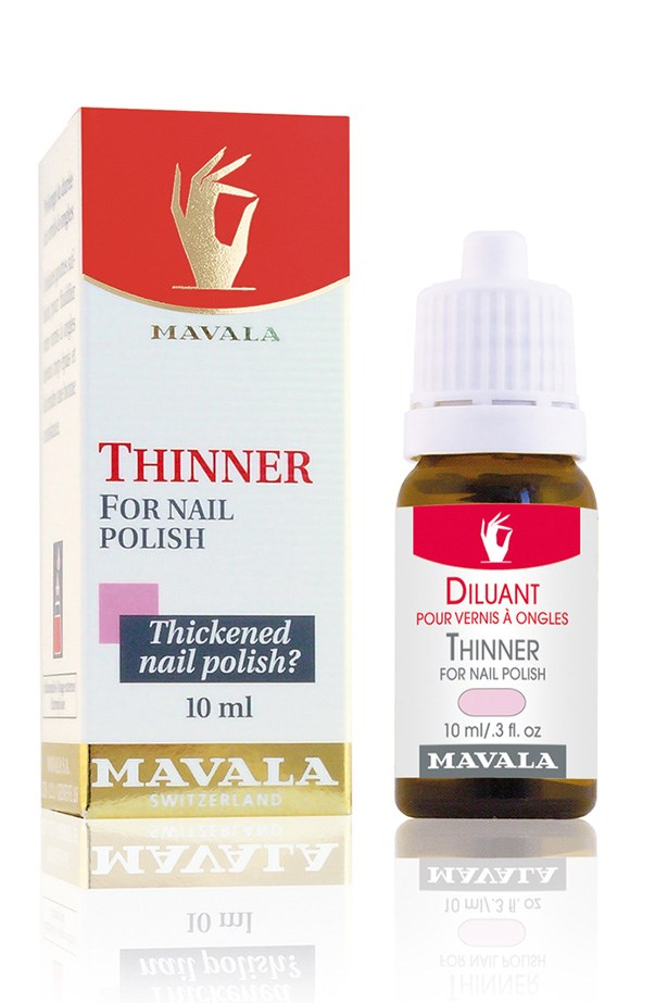 "<strong>Add thinner</strong> <br> <br> A gluey, dry nail polish formula will triple your application time, but sometimes it's all you've got to work with. A couple of drops of thinner will instantly correct the consistency so it glides on like it's supposed to. <br> <br> Mavaila Thinner For Nail Polish, $13.95, at <a href=""https://www.mavala.com.au/nail-polish-removers/thinner-for-nail-polish"">Mavala</a>"