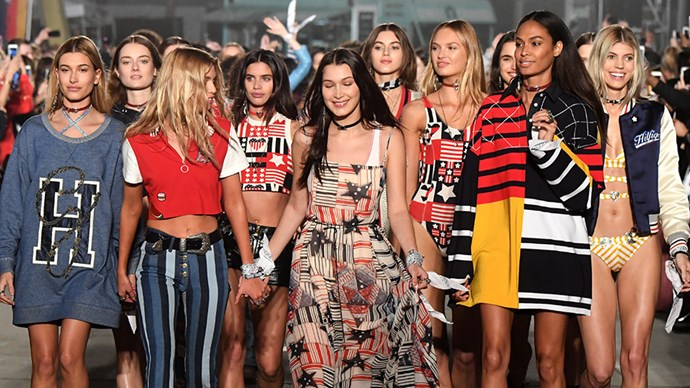 <p><strong>The white bandanna</strong><p><p> Tommy Hilfiger and Gigi Hadid both ran with the Tied Together campaign at the Tommy Hilfiger x Gigi Hadid spring/summer 2017 show, where every model wore one tied around their left wrist.