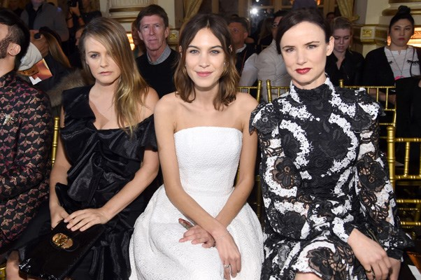<p><strong>Christian Siriano</strong> <br><BR> Alicia Silverstone, Alexa Chung and Juliette Lewis