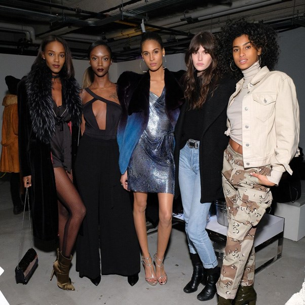 <P><strong>FENDI</strong> <BR><BR> Leila Nda, Riley Montana, Cindy Bruna, Vanessa Moody and Imaan Hammam