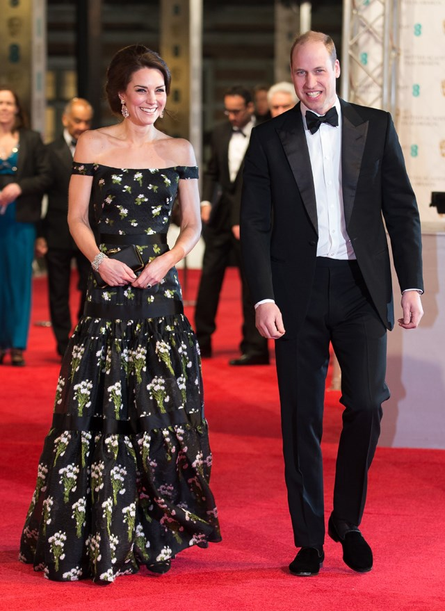 Catherine, Duchess of Cambridge, in Alexander McQueen.