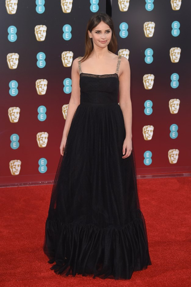 Felicity Jones in Christian Dior.