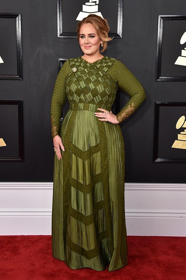 2017 Grammy red carpet.