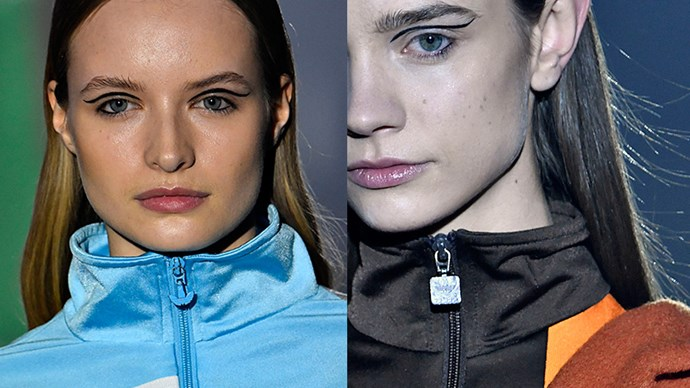 <strong>VFILES</strong> <br> <br> Sometimes, all it takes to polish a runway look is a fine line. Liquid liner was swept along the waterline and the socket line to set off the sporty collection.