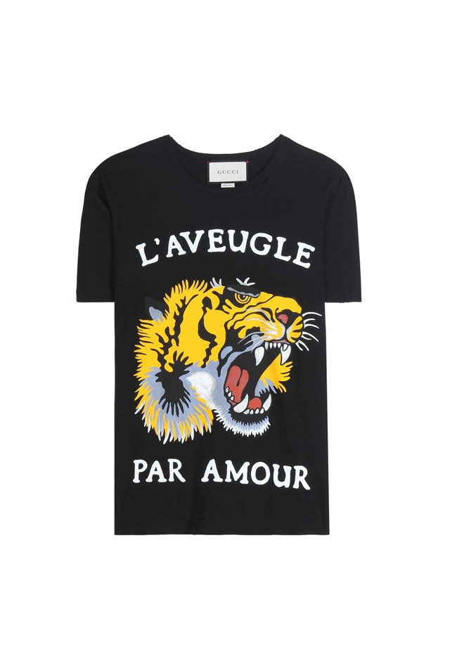 "T-Shirt, $570, <a href=""http://www.mytheresa.com/en-au/printed-cotton-t-shirt-690996.html?catref=category"">Gucci at mytheresa.com</a>"