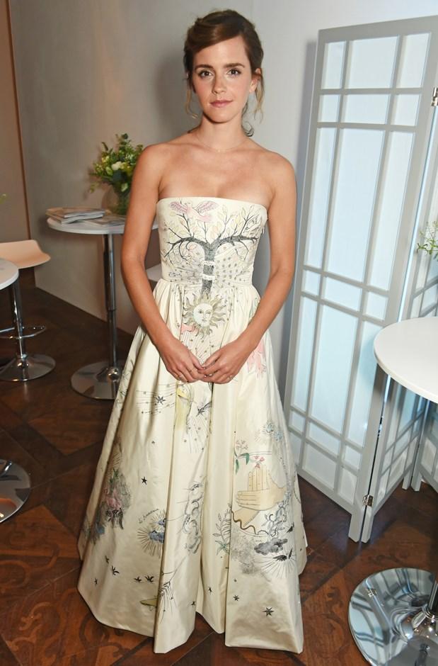 Emma Watson in Christian Dior.