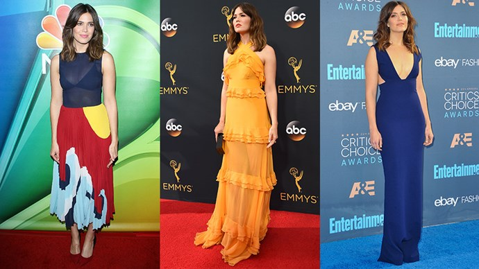 Thanks to her role in the critically acclaimed series <em>This Is Us</em>, Mandy Moore is having a major moment. Here, we chart her best sartorial moments to match.