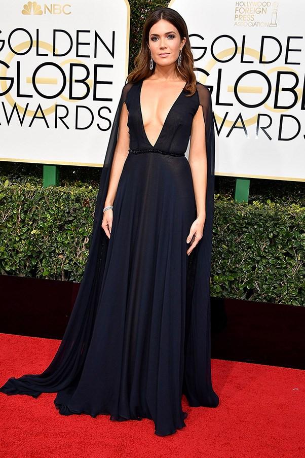 In Naeem Khan at the Golden Globes.