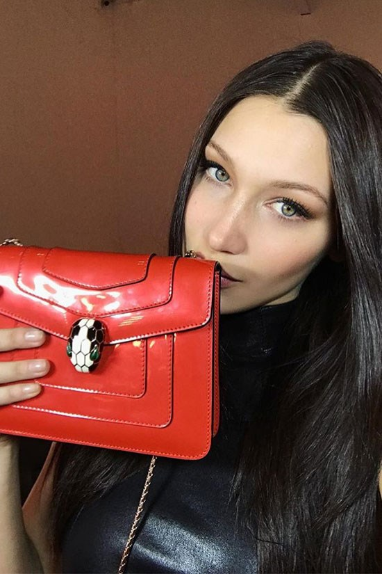 Bella Hadid Bulgari bag