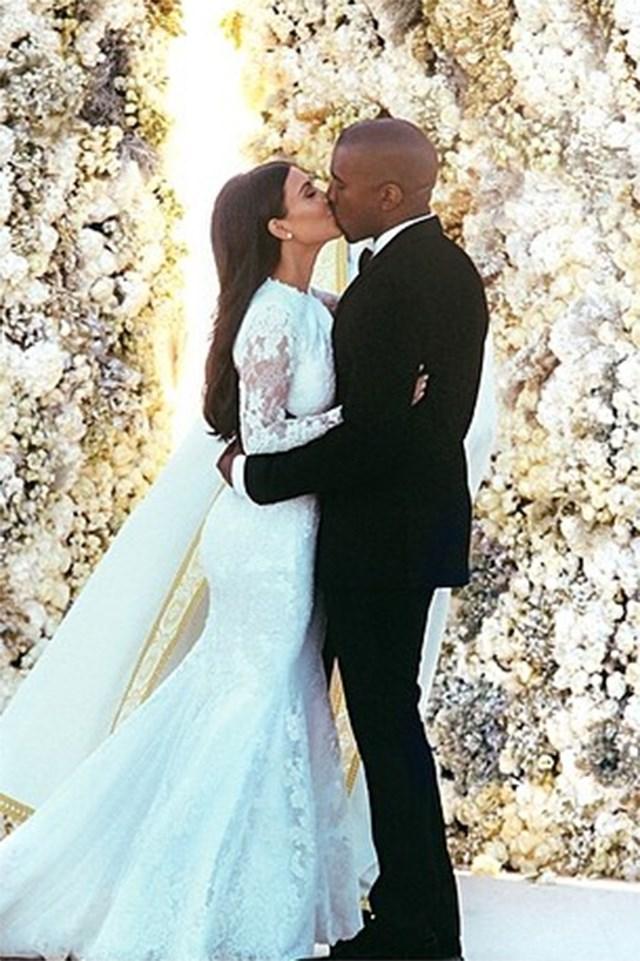 Kanye West and Kim Kardashian wedding.