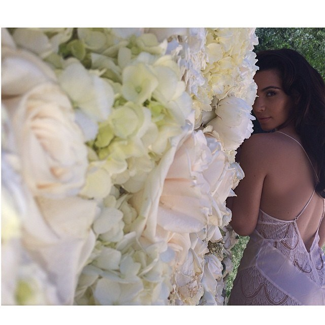 """""""There's a wall of roses in my backyard what else am I supposed to do ?!?#ImpromptuPhotoshoot"""". Of course."""