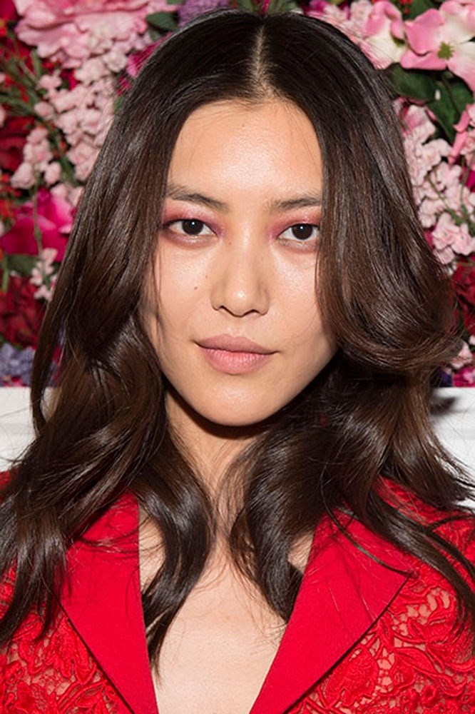 """<strong>La Perla</strong><br><br> Love the barely-there lip from La Perla? Try Maybelline New York's <a href=""""https://www.priceline.com.au/maybelline-color-sensational-stripped-nudes-4-2-g"""">Color Sensational Stripped Nudes Lipstick in 'Brazen Beige'</a>."""