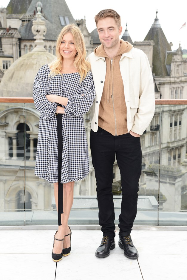 For a London photocall, Sienna wore this sweet peasant dress by Sonia Rykiel.