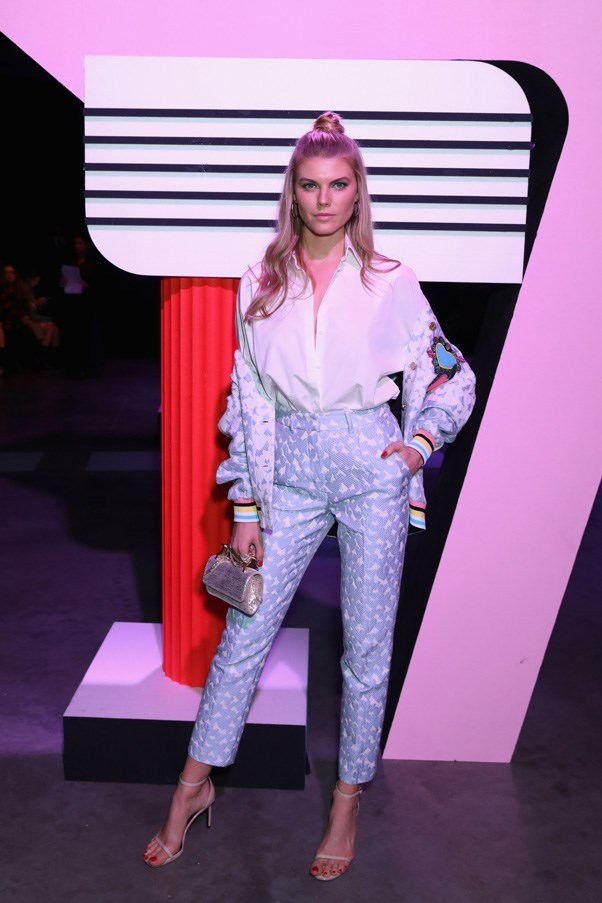 <p>Maryna Linchuk at House of Holland
