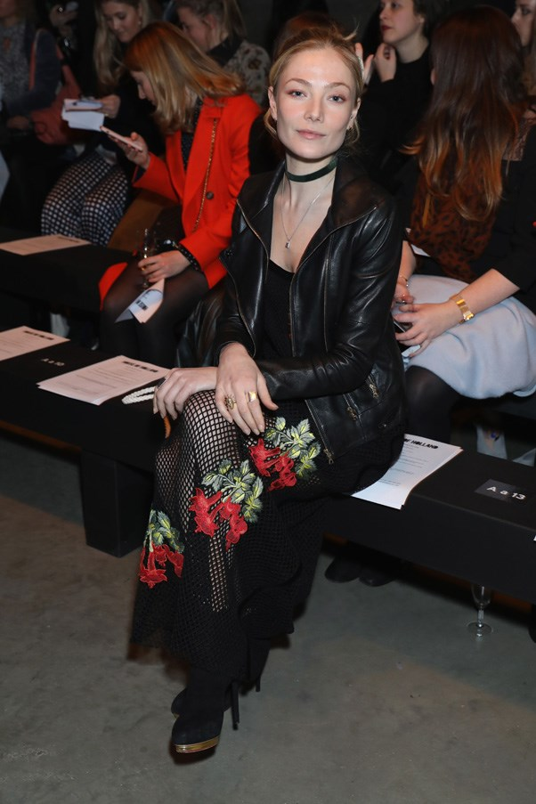 <p>Clara Paget at House of Holland