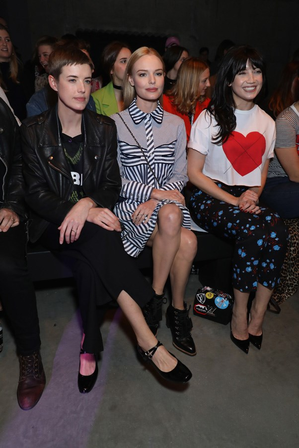 Agyness Deyn, Kate Bosworth and Daisy Lowe at House of Holland