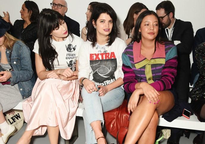 Daisy Lowe, Pixie Geldof and Naomi Shimada at Ashley Williams