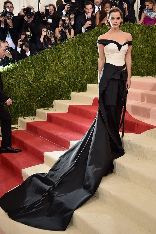 Emma Watson wore a stunning Calvin Klein dress made from recycled plastic bottles to the 2016 Met Gala. Still looks amazing.