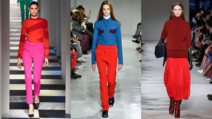 Unexpected colour clashing is proving the unexpected fashion trend of fashion month. Here, the best moments.