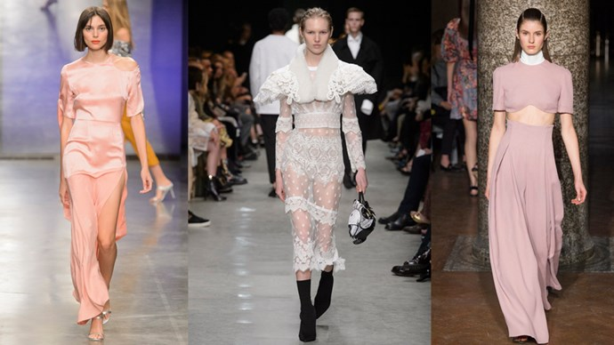 <P> From frothy lace capelets at a newly re-inspired Burberry, to sequined extravagance at Christopher Kane, these are the looks that drew our eye—and kept our attention—at London Fashion Week.