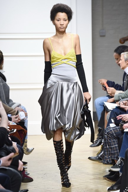 <p> <strong>J.W. Anderson</strong><p> <p> His time is split between his namesake label and Loewe right now, but far from letting things slip, designer Jonathan Anderson just keeps getting better and better. This look, worn by girl-of-the-moment Lineisy Montero, taps into fashion's enduring love of lingerie.