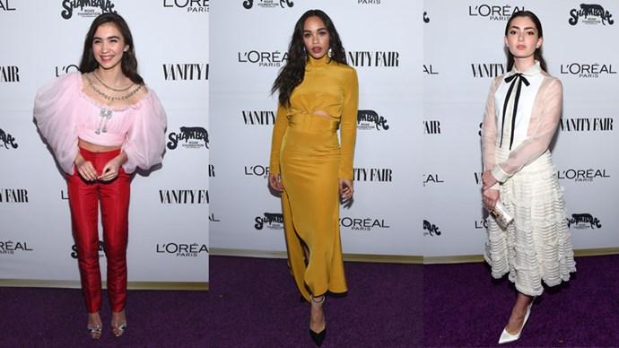<em>ELLE</em> rounds up all the best fashion moments from <em>Vanity Fair</em>'s Young Hollywood Awards.