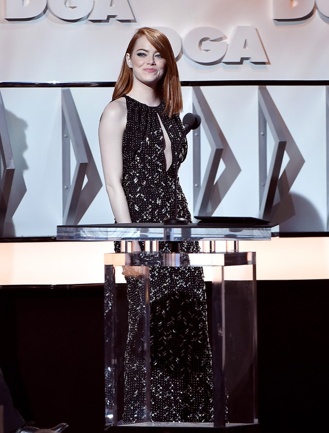 The actress picked Louis Vuitton for the Directors Guild of America Awards.