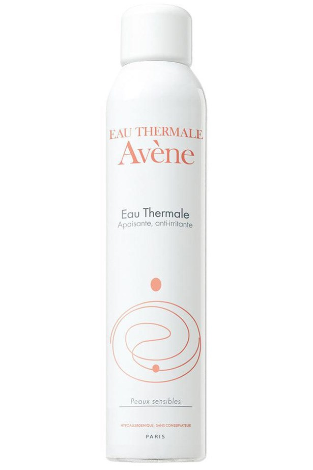 "Eau Thermale Avène Thermal Spring Water, $18.50, at <a href=""https://www.amazon.com/dp/B002D48QUC/?smid=ATVPDKIKX0DER&tag=rewardstyle-20&linkCode=df0&creative=395093&creativeASIN=B002D48QUC&ascsubtag=H4hwLwyXE0-~9lofx--2938987079&th=1"">Amazon</a>"
