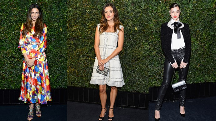 Chanel threw a little soirée in L.A. last night with Charles Finch, and every single one of its attendees were at their best. From Deepika Padukone in flowing colourful silk, to Kristen Stewart in midrif-bearing lace, there was not one let-down in sight.