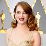 Emma Stone Goes For Gold In Gold Fringed Givenchy Couture image