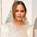 Chrissy Teigen's White-And-Gold Oscars Dress Is So Pretty image