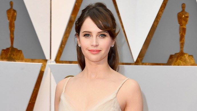 Felicity Jones at the 2017 Oscars.