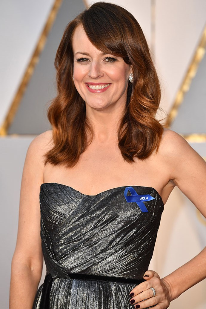 Rosemarie DeWitt wore her ACLU ribbon on the Oscars red carpet.