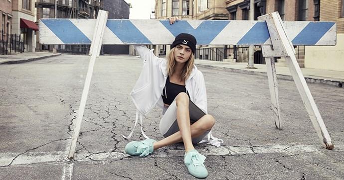 Cara Delevingne Puma Suede Heart sneakers