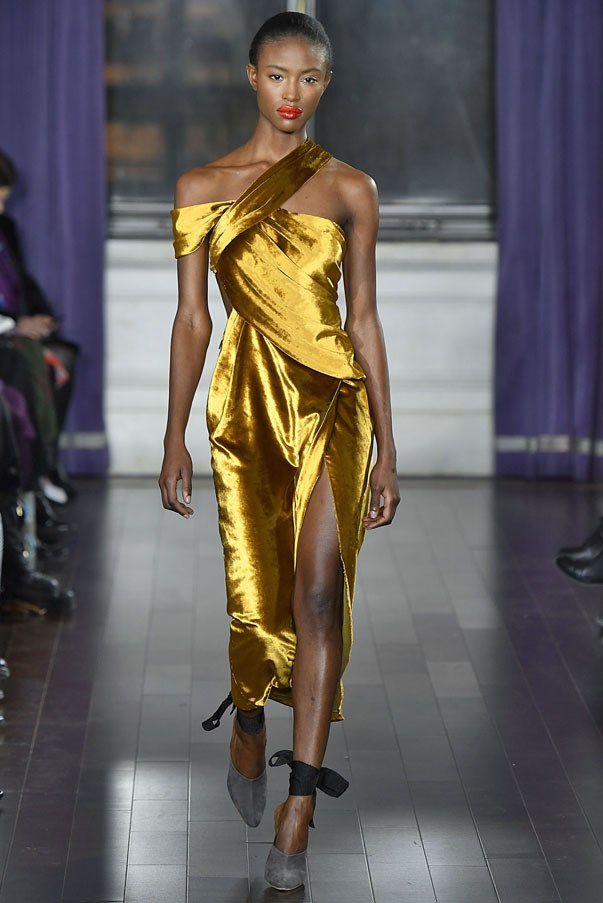 <strong>LEO</strong> <br><br> It doesn't get more luxe than coloured velvet, but while you might dabble in Dion Lee's royal blue or Ulla Johnson's burnt umber, we're betting it's Jason Wu's slinky gold cocktail dress that catches your eye first.