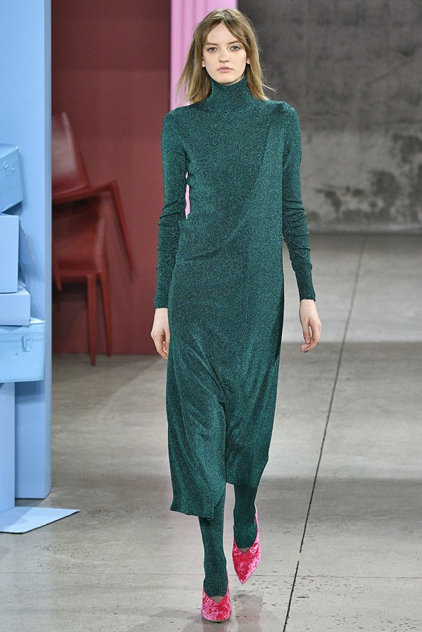 <strong>AQUARIUS</strong> <br><br> Speaking of Tibi, chic water-bearers will be down with the interesting silhouettes the brand showed earlier this week. The standout? A tea-length Lurex sheath worn with those troublesome stirrup pants underneath.